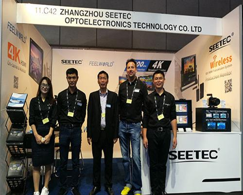 FEELWORLD/ SEETEC show the new 2200nit high brightnes monitor at IBC 2017