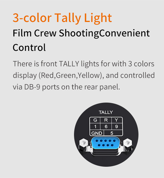 3-color tally light  for film shooting