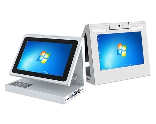 双屏台式人证合一人脸识别身份证核验一体机 FDCM102