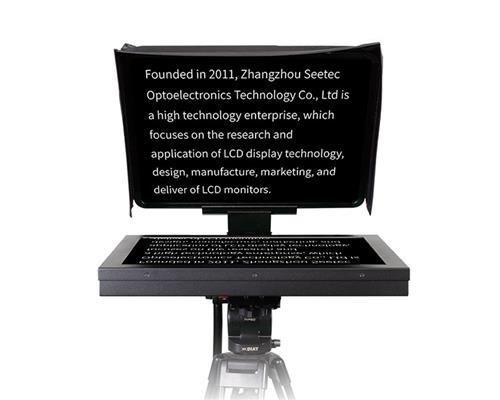 SEETEC TMP19 19寸演播室提词器大屏幕摄像机单反电视台播音员节目访谈读稿提字器