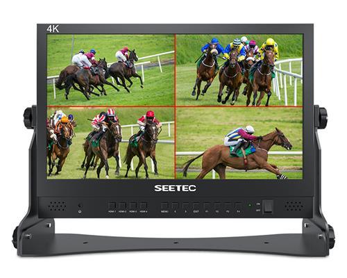 SEETEC ATEM156 15.6寸流媒体直播广播级导演监视器4路HDMI输入输出四画面分割显示ATEM Mini切换台专属搭配 打造高质量多机位现场制作
