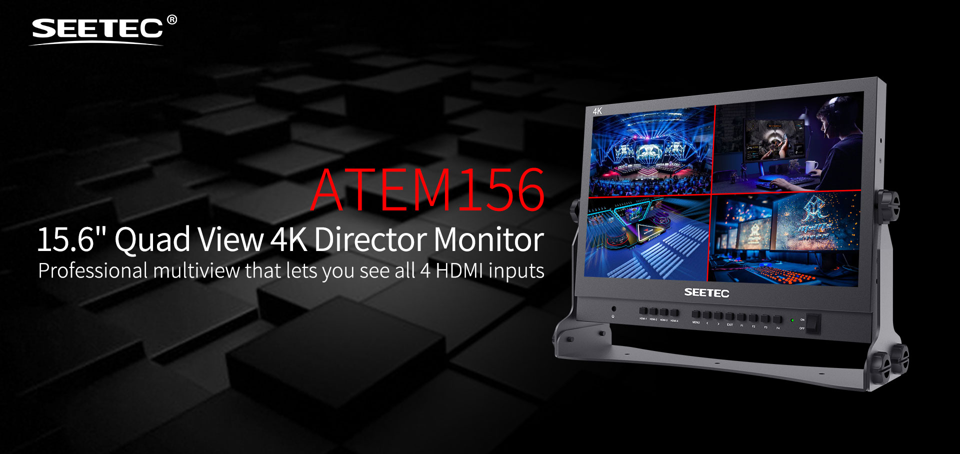 quad view 4K director monitor